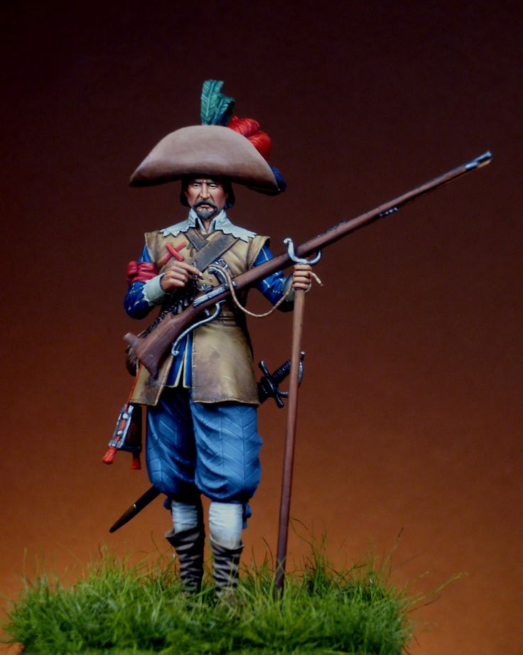 Spanish musketeer infantry. Flanders 1643