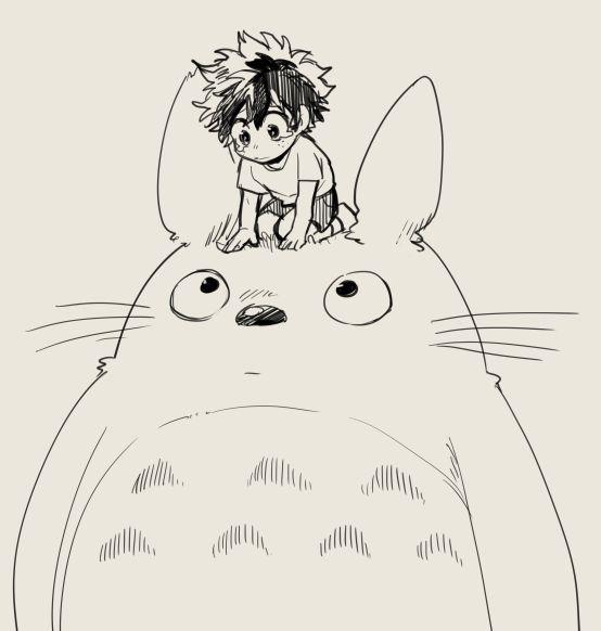 Boku no Hero Academia x Tonari no Totoro    Cross-Over [ Midoriya Izuku, Totoro. ]