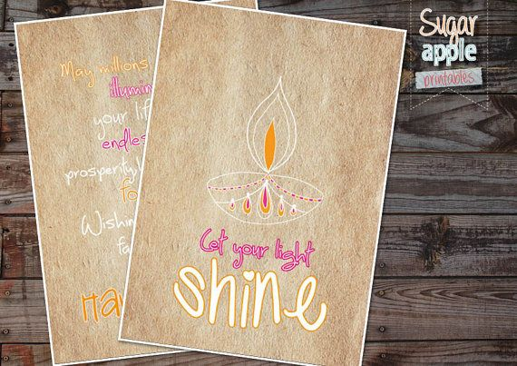 DIWALI CARDS Printable DIY