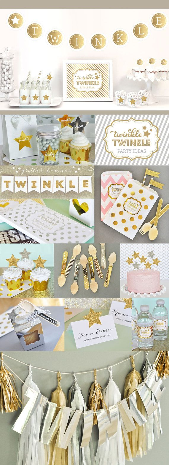 Twinkle Twinkle Little Star Baby Shower Decorations Twinkle Little Star Party Theme by ModParty