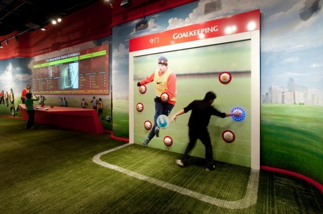 Training Area Goalkeeping Game Interactive Exhibition