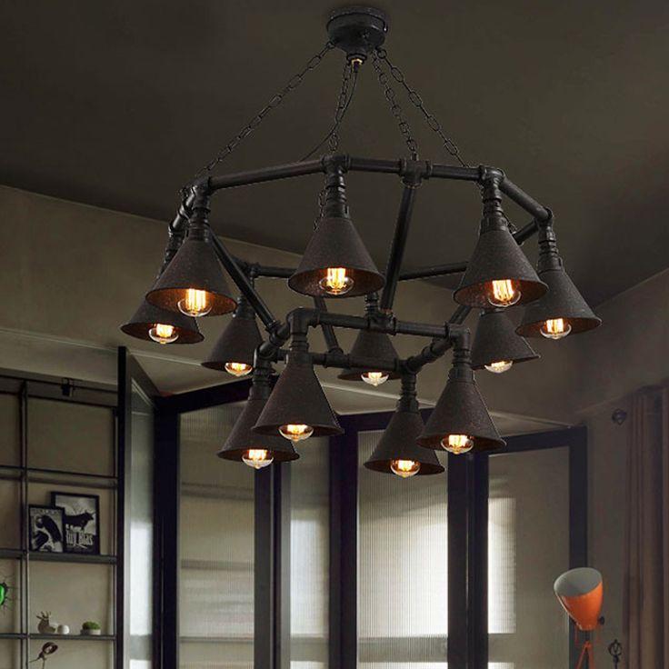 Vintage industrial copper loft vintage retro industrial cafe project pendant lights wrought iron e27 edison lighting