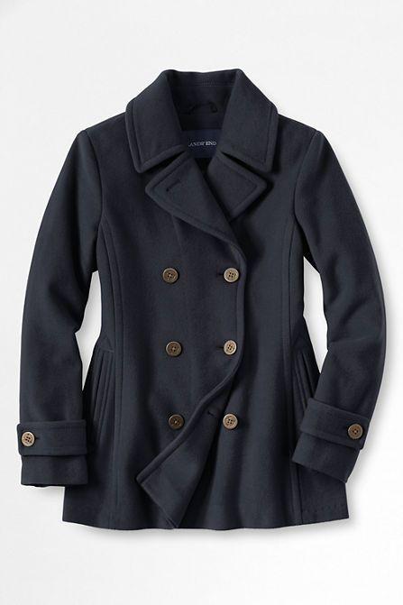 Plus Size Luxe Wool Peacoat