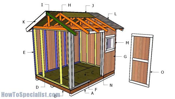 8x10 Shed Door Plans Howtospecialist How To Build Step By Step Diy Plans Diy Shed Plans 8x10 Shed Shed Plans