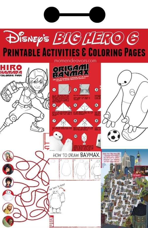 Disneys Big Hero 6 Printable Activity Sheets Coloring Pages