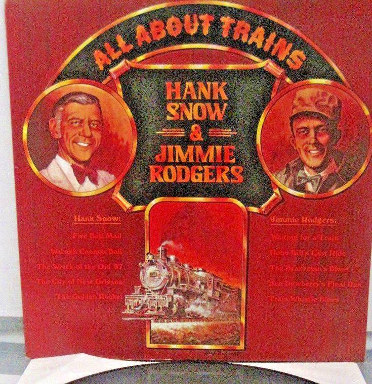All About Trains Hank Snow Jimmie Rodgers LP 1975, RCA Children Christmas Fun #EducationalFolkNurseryRhymeSingAlongStory