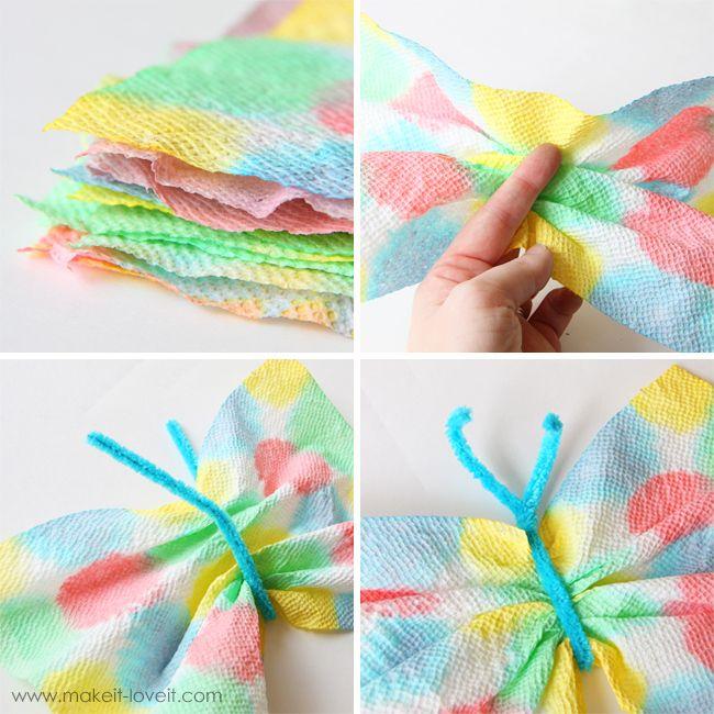 butterflies kid crafts