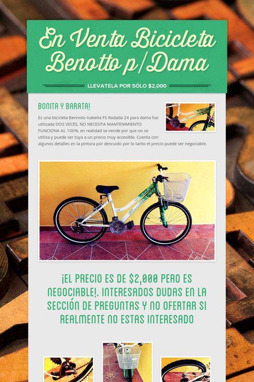 En Venta Bicicleta Benotto p/Dama
