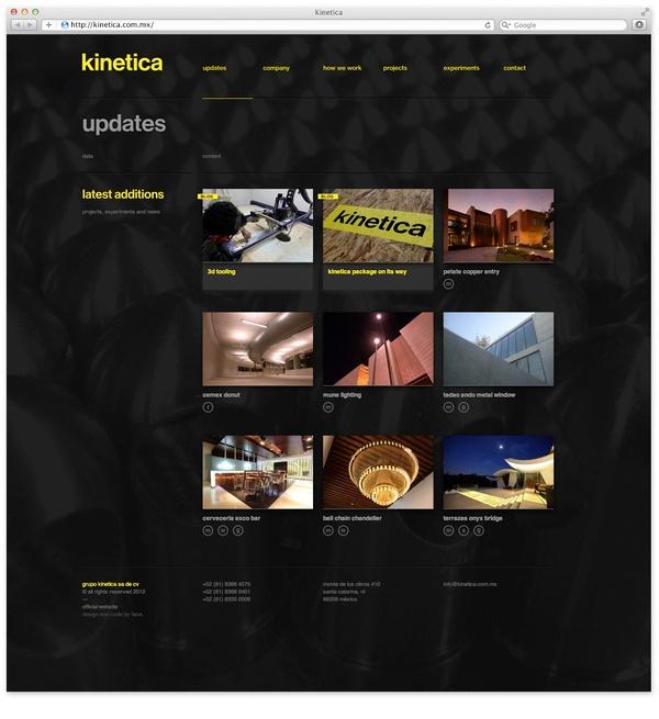 Kinetica. by Face., via #Behance #Webdesign