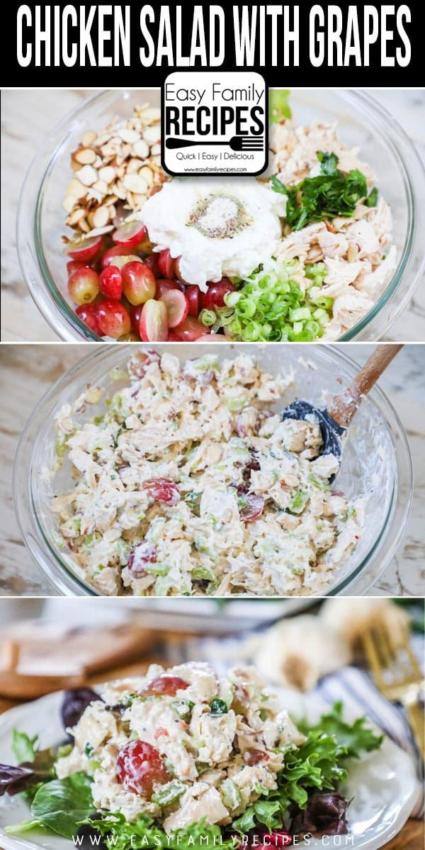 THE BEST Chicken Salad with Grapes – This chicken salad recipe is easy and healt…