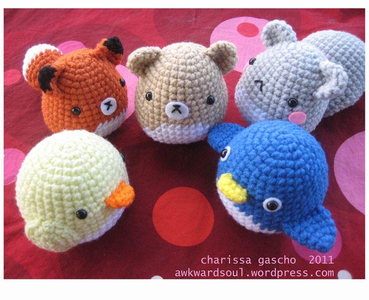 Amigurumi Animals : Amigurumi animals! Emelis Stuff Pinterest