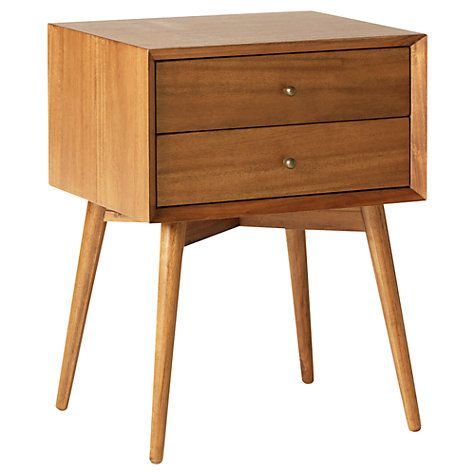 Buy west elm Mid-Century Bedside Table, Acorn Online at johnlewis.com