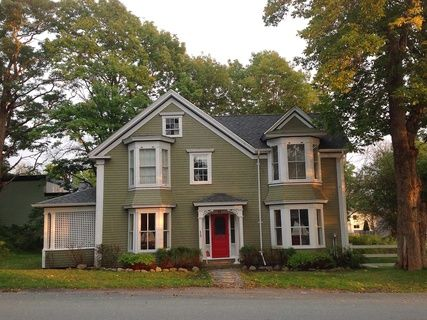Shorewood House in Shelburne Nova Scotia, is an elegant harbour front vacation home available for summer rentals.