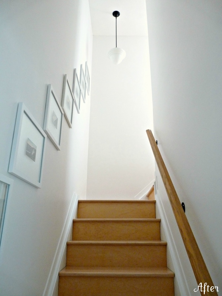 Frames above stairs