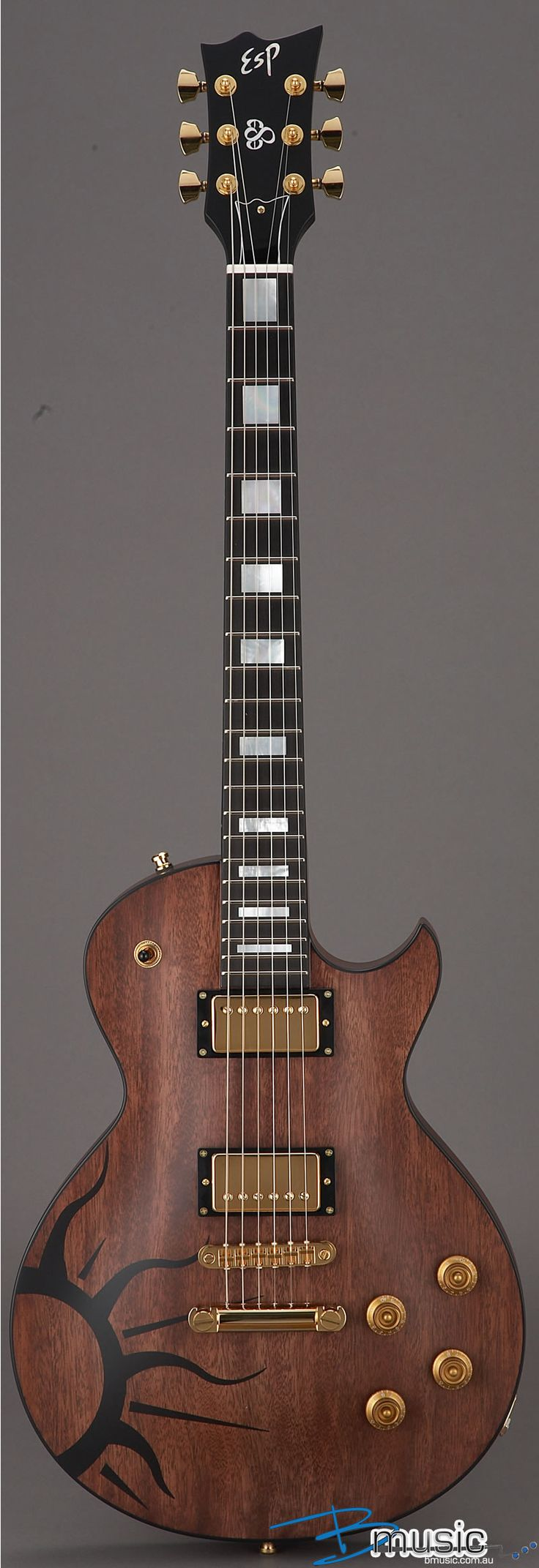 I'm really not into ESP guitars, but ESP Eclipse Esa Holopainen Signature is damn sweet guitar.