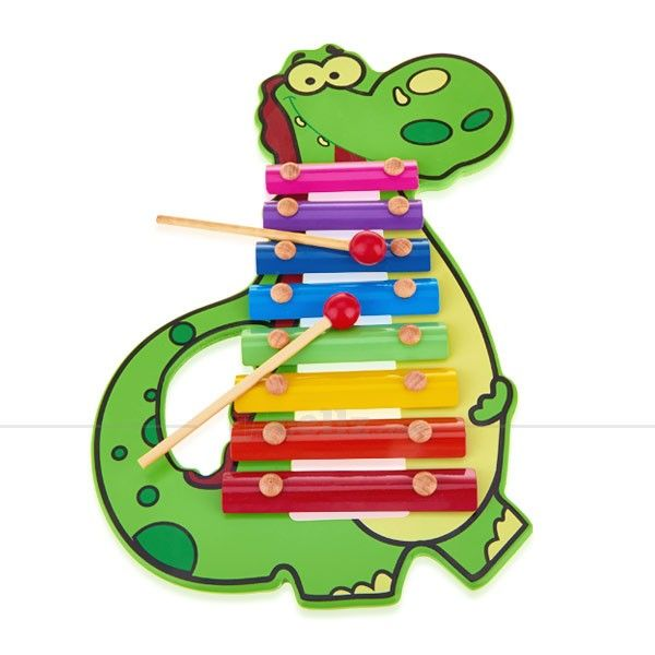 Dinosaur Hand Knock Xylophone for 2+ Ages Children #dinosaur #xylophone #kids #toy #children