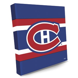 "CANVAS LOGO PRINT - MONTREAL CANADIENS  Product # NT18301 $39.98 CAD - For any hockey fan, these bright and colourful NHLr logos on premium stretched canvas make the perfect gift!  Liven up your FAN-cave or office with a shout-out to your favourite team.  14""L x 14""W"