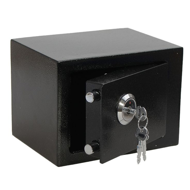 Hot Sale Strong Iron Steel Black Key Operated  Security Money Cash Safe Box Home Office House New Arrival Free Shipping #jewelry, #women, #men, #hats, #watches, #belts, #fashion