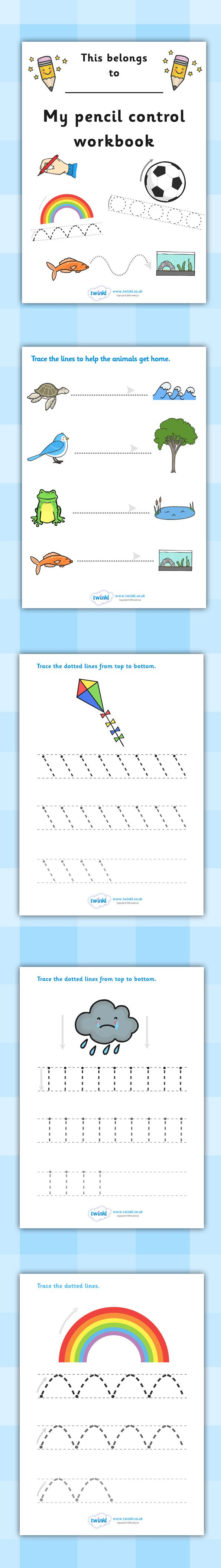 Twinkl Resources >> Line Handwriting Worksheets >> Printable resources for Primary, EYFS, KS1 and SEN.  Thousands of classroom displays and teaching aids! Literacy, English, Handwriting, Pencil Control