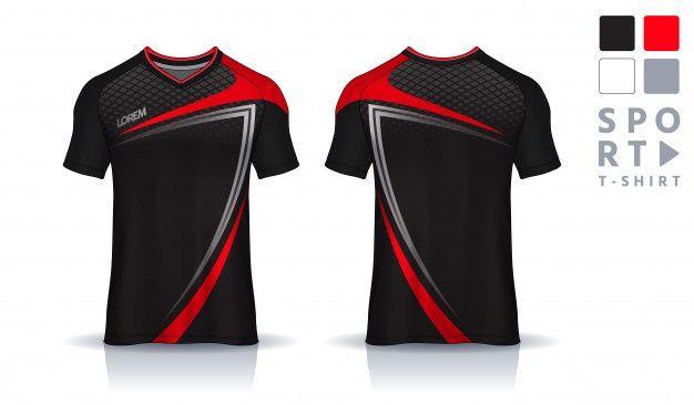 Download T Shirt Sport Design Template Soccer Jersey Mockup For Football Club Uniform Front And Back View Sports Tshirt Designs Sport Shirt Design Sports Apparel Design