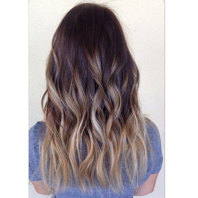 Braune haare ombre pink  Modische haarschnitte und ...