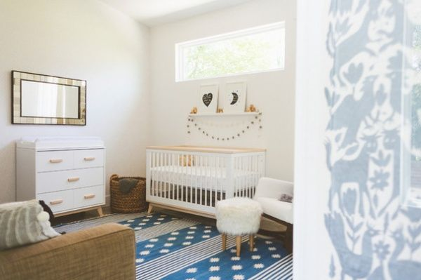 babyletto Scoot Crib & Dresser in Washed Natural and white | Eclectic Kids by Heather Banks