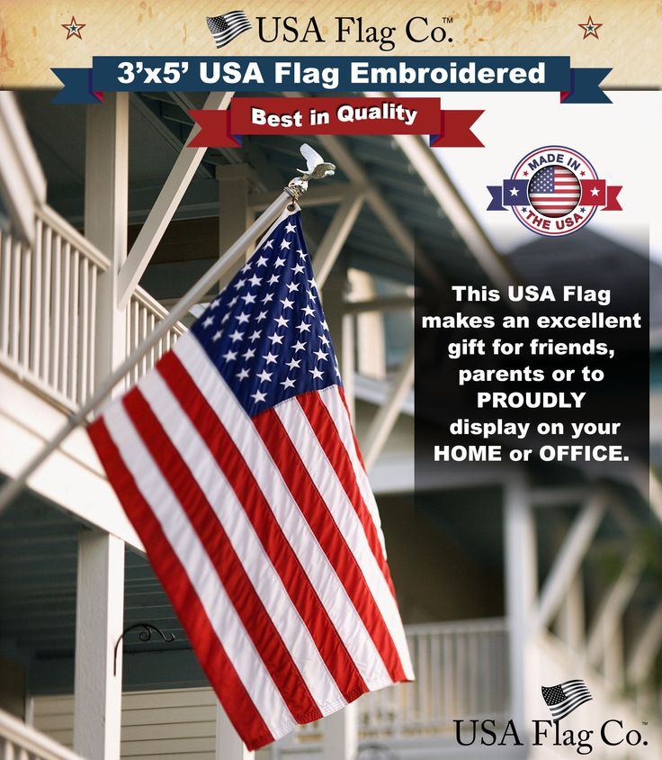 7 best us flags by usa flag co images on pinterest american fl american flag 3x5 foot embroidered stars sewn stripes publicscrutiny Choice Image