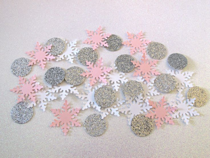 225 Pink White Silver Snowflake Confetti Pink Silver Onederland Girl First Birthday Confetti Pink Silver Party Winter Shower Winter Birthday by TickledGlitzy on Etsy https://www.etsy.com/listing/251106006/225-pink-white-silver-snowflake-confetti