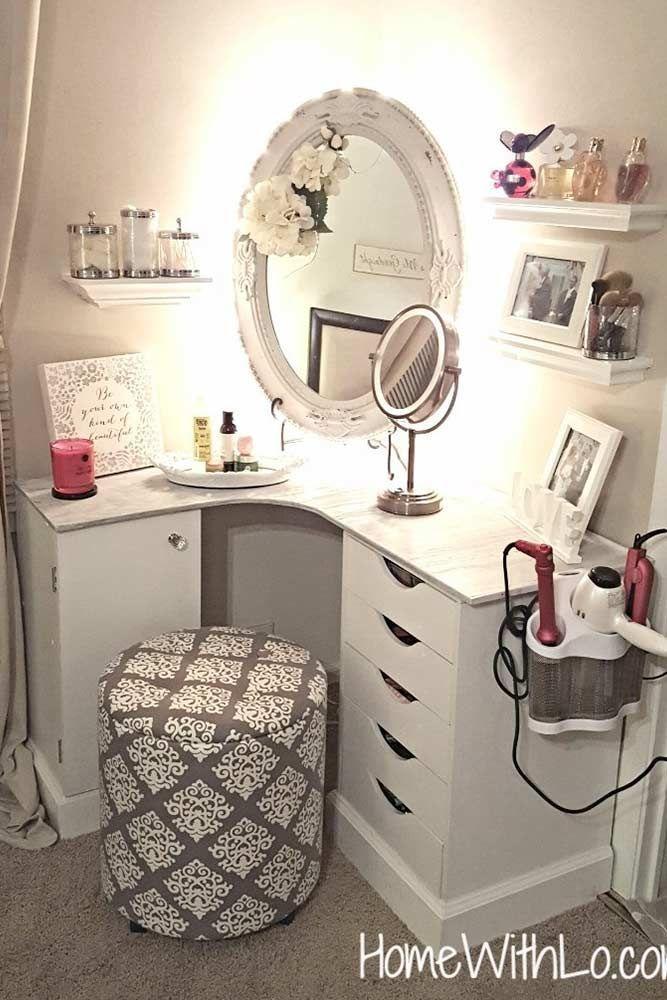 33 Most Popular Makeup Vanity Table Designs 2019