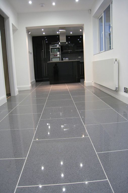 Luxurious Blue Grey Ceramic Floor Tile And Grey Faux Wood