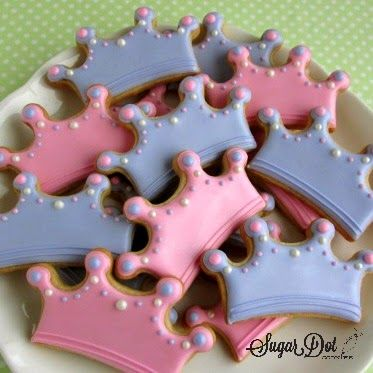 Sugar Dot Cookies: Sugar Cookies - Princess Crowns