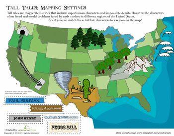 FREE Worksheet: American Tall Tales http://www.education.com/worksheet/article/american-tall-tales/