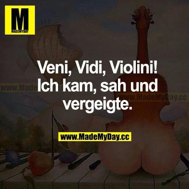 Veni, vidi, violini! Ich kam, sah und vergeigte.