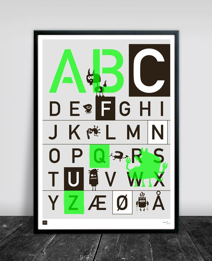 ABC Poster 50 x 70 cm via Buus Works. Click on the image to see more!
