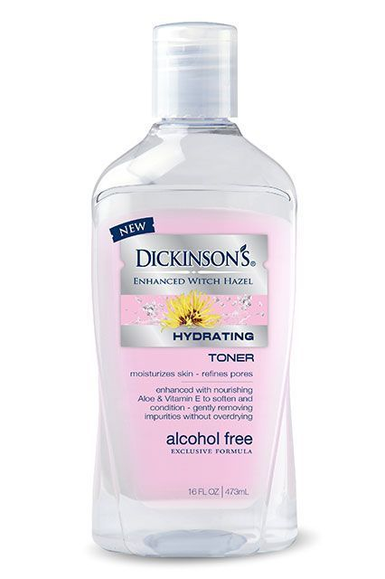 Those of you who love Dickinson's original alcohol-free toner will adore the brand's newest launch, which throws aloe vera and vitamin E into the mix. Dickinson's Hydrating Toner, $5.97, available at Walmart. #refinery29 http://www.refinery29.com/new-drugstore-makeup-products#slide-23
