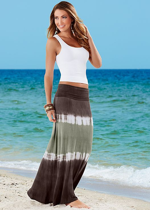 Cami, dip dye maxi skirt by VENUS