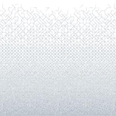 Papier peint Modular / 2 lés Blanc / Noir - Bien Fait