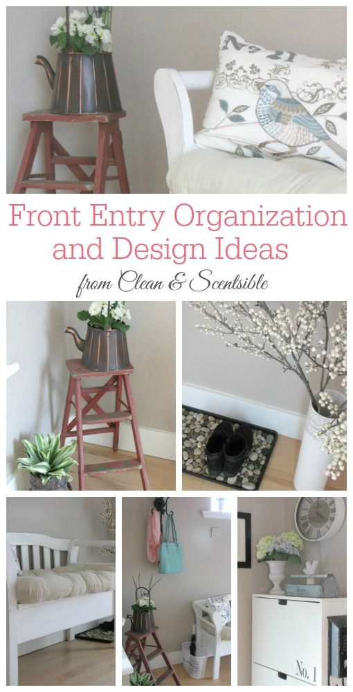 Great front entry organization and design ideas!