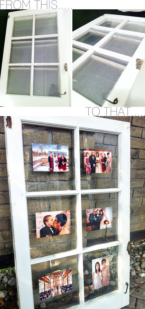 Turn an Antique Window Pane into a Picture Frame {via My. Daily. Randomness}