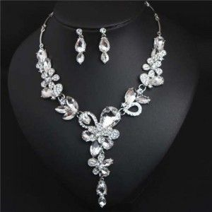 Statement Necklace New Pretty Flower Necklace Pendant Fashion Style Jewelry