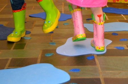 Indoor puddle jumping gross motor activity to go along for Indoor gross motor activities