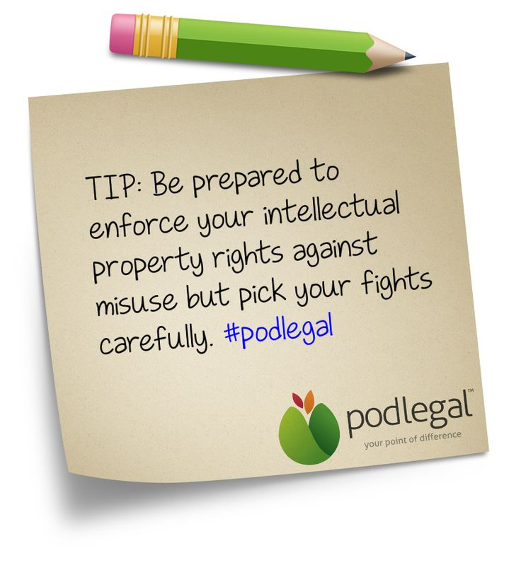 TIP: enforcing your #IP rights