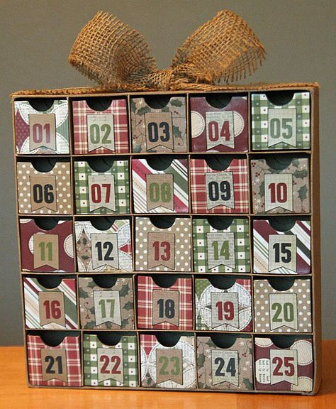 Geänderter Adventskalender / Weihnachts-Countdown-Box – Scrapbook.com   – Silhouette Christmas
