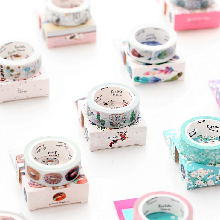 Girly Girl Boutique Tape on Girly Girl の To Alice.Girly Creative Indie Watercolour Tape Diy Décor Stationery get yourself ready to look cute .