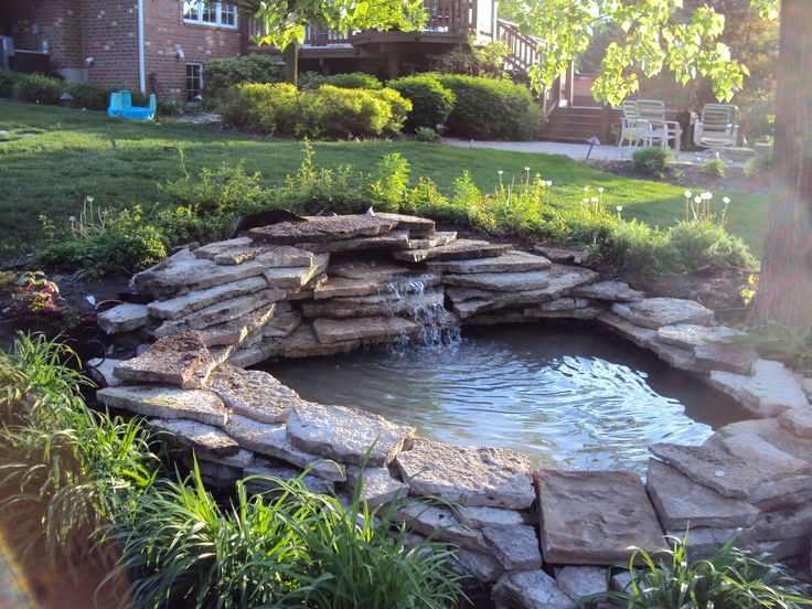 Landscaping Around A Pond | ... Flow Back To The Pond. The Pond
