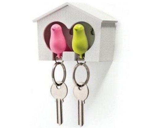 Páros kulcstartó madarakkal: romantikus ajándék házassági évfordulóra, Valentin-napra vicces ajándék