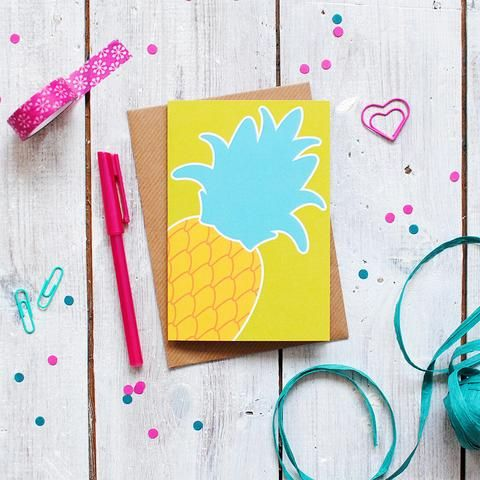 Pineapple Greetings Card | Thank You Card | Birthday Card | Stationery - Onetenzeroseven - 1