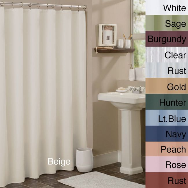 Anti-mildew Vinyl Shower Curtain Liner (Beige), Brown