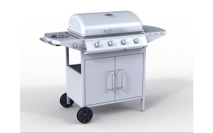 Barbecue Grill Outdoor Grilling  4 Burner Gas Stainless Steel Party Yard Cooking