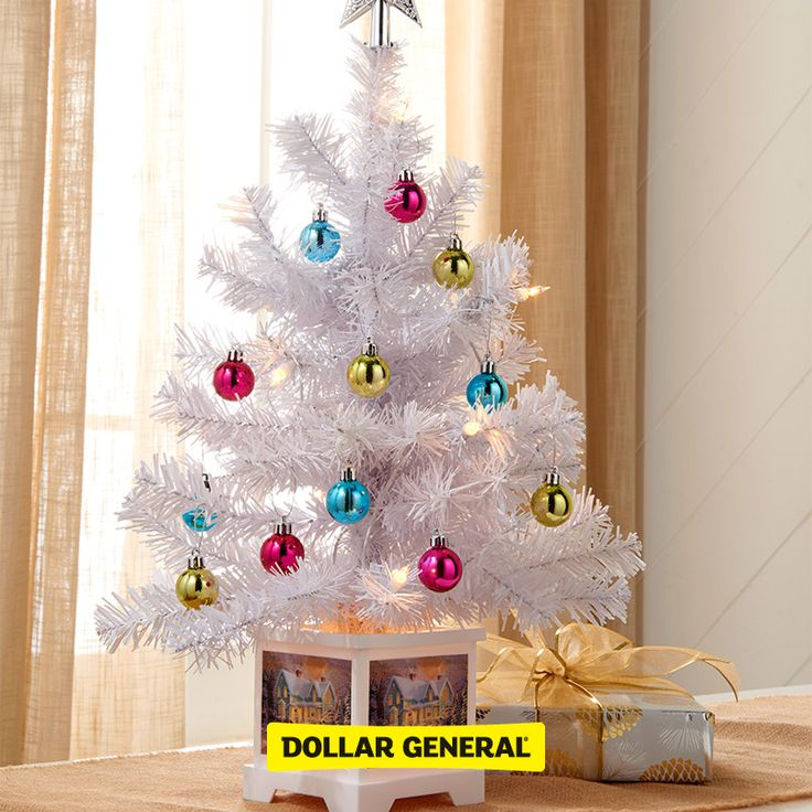 No room for a tree? Try this mini tree as a table centerpiece - dollar general christmas decorations